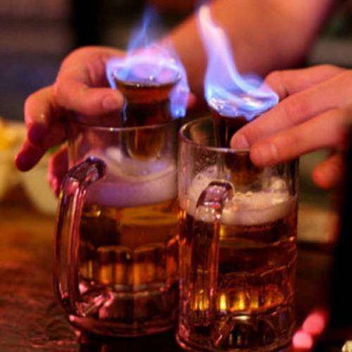 photo du cocktail Flaming Dr Pepper